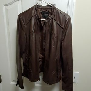 NWOT Women's Express Vegan Leather Jacket